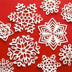 Omiyage Blogs: Cut + Fold - Kirigami Snowflakes