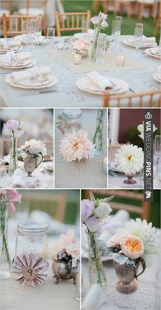 shabby chic wedding details | VIA #WEDDINGPINS.NET
