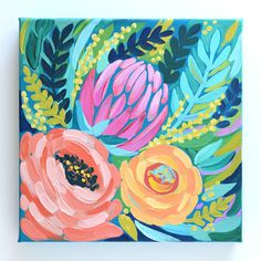 Would you love a painting created in kyour favorite colors? I still have spots a… - PaintinG Acrylic Painting Flowers, Acrylic Painting For Beginners, Abstract Flowers, Acrylic Painting Canvas, Floral Paintings, Painting Techniques, Paintings On Canvas, Acrylic Painting Inspiration, Tree Paintings