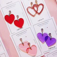 New Piercing Ideas Earrings Girls Ideas Girls Earrings, Cute Earrings, Statement Earrings, Dangle Earrings, Heart Earrings, Silver Accessories, Handmade Accessories, Fashion Accessories, Accesorios Casual