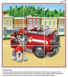 This puzzle is perfect for preschoolers and features Marshall the dalmatian from Paw Patrol with his fire truck! Paw Patrol Party, Paw Patrol Birthday, Escudo Paw Patrol, Cumple Paw Patrol, Community Helpers Preschool, Fire Safety, Winter Kids, Boy Birthday Parties, Toy Store