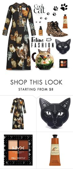 """Crazy Cat Lady"" by neverboring ❤ liked on Polyvore featuring Trilogy, Dolce&Gabbana, Current Mood, Crabtree & Evelyn, Bobbi Brown Cosmetics, dolceandgabbana, falldresses, felinefashion, fall2017 and dreamydresses"