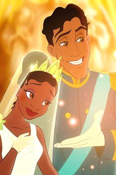 The Princess and the Frog Tiana and Naveen #disney #princessandthefrog