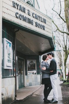 Here's one of our engagement shots that I'll use for our save the dates. Film themed wedding