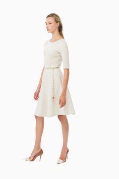 Abito maglia con cintura - Abiti su Digital Store ELISABETTA FRANCHI - la Boutique online ufficiale 472