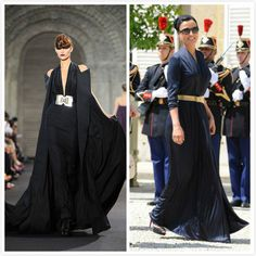 Sheikha Mozah was wearing another gown from Stéphane Rolland Couture. It was from the Fall/Winter 2011-2012 Collection, at first it is hard to tell who was it from, her version was modified from the original runway version. During her last state visit to France, she only wore Stéphane Rolland Couture.