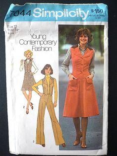 Vintage Sewing Pattern Ladies 70's Uncut by Freshandswanky on Etsy, $4.00