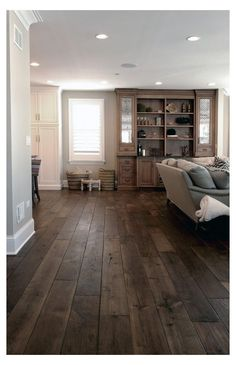 Farmhouse Flooring, Wooden Flooring, Flooring Ideas, Farmhouse Decor, Plywood Floors, Plywood Furniture, Modern Farmhouse, Farmhouse Style, Dark Flooring