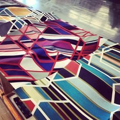 Oh hi, gorgeous fabric designed by Sarah Morris for Maharam!