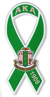 Alpha Kappa Alpha ribbon magnet