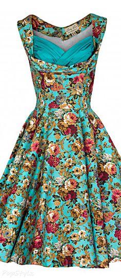 'Ophelia' Vintage 1950's Garden Party Dress