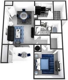 Apartment/Condo Floor Plans - 1 Bedroom, 2 Bedroom, 3 Bedroom and Town home style, Spacious Floor Plans Luxurious Living near Tampa FL