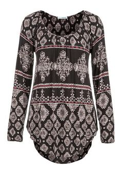 long sleeve patterned tunic (original price, $32) available at #Maurices