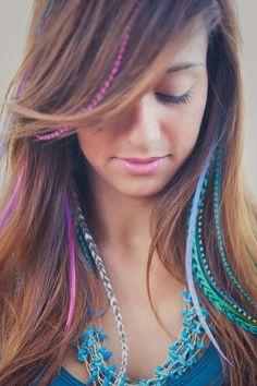 Fashionable veren in je haar! #featherextensions #veren #trend