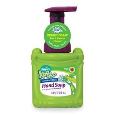 colored soap that smells good. Great way to get them to wash their hands,