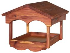 Amish Cedar Classic Open Tray Bird Feeder