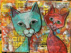 2 Cats - RuthArT by RuthArt, via Flickr