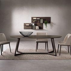 Tavolo ellittico con struttura in massello Cover