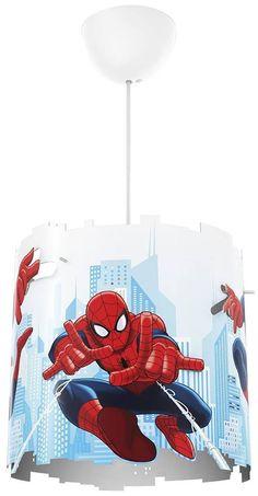 Diese lebendige und farbenfrohe Spiderman-Pendelleuchte von Philips und Marvel wirft mit verrückten Ausschnitten verspielte Muster an die Wände des Kinderzimmers. Spiderman sorgt so in vollem Schwung für süße Träume voller Abenteuer!