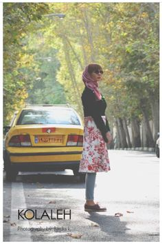 #KOLALEH Design#Iran fashion Beautiful Persian Fashion! Modern Artistic Iranian woman wear these outfits outside of their homes. The dress should cover the head and the body below the knee . What a beautiful coverage !!!