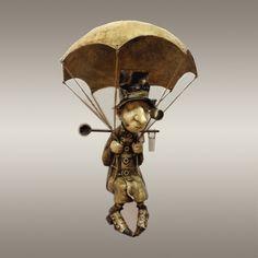 "Кукольная скульптура ""Энтомолог"" Funny Old People, Steampunk, Stop Motion, Dieselpunk, Handmade Art, Figurative Art, Sculpture Art, Art Dolls, Metal Art"