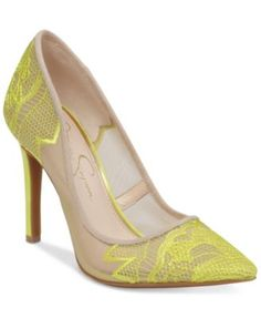 Jessica Simpson Camba Lace Pointed-Toe Pumps | macys.com
