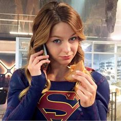 Supergirl, like Sailor Moon, loves donuts!