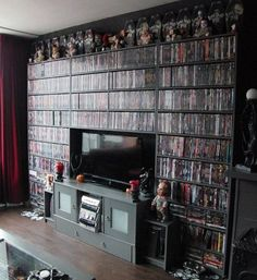 dvd storage ideas dvd storage ideas diy dvd storage ideas ikea dvd storage ideas without cases dvd storage ideas living room dvd storage ideas for small spaces dvd storage ideas uk dvd storage ideas no cases Dvd Storage Cabinet, Dvd Storage Shelves, Dvd Storage Case, Movie Storage, Storage Rack, Book Storage, Video Game Storage, Storage Units, Home Decor Ideas