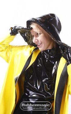Womensyellow Raincoat Next Vinyl Raincoat, Pvc Raincoat, Plastic Raincoat, Yellow Raincoat, Pvc Leggings, Shiny Happy People, Girls Raincoat, Latex Costumes, Latex Wear