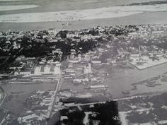 Salt Run is at the very top of the photo looks like open water, but was bordered to the east by shoals (where the state park is now). The sandy peninsula  in this photo is Davis Shores, the northern tip of Anastasia Island. This photo looks like it was taken in the late 1920s, because it looks like the Bridge of Lions (1927) is there, but Davis Shores has not been developed yet.