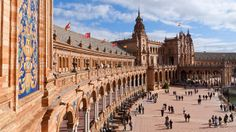 The Plaza de Espana in Maria Lusia Park is just one example of Seville's deeply layered history.