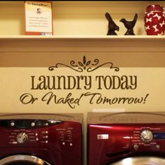 Cute decal for the laundry room lol