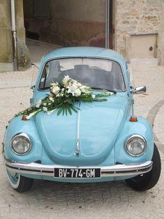 Simple Wedding Car Decoration Ideas With Vintage Car Einfache Hochzeit Auto Dekoration Ideen mit Oldtimer Wedding Car Decorations, Old Classic Cars, Wedding Pinterest, Simple Weddings, Happily Ever After, Color Pop, Colour, Vintage Cars, Automobile