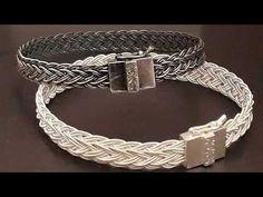 The final version of the seventeenth-dimensional knit-made bracelet - Tel örme Diy Jewelry Rings, Diy Jewelry Unique, Womens Jewelry Rings, Gold Jewelry, Women Jewelry, Jewelry Making, Jewelry Bracelets, Jewellery, Granada