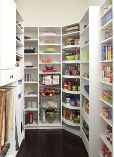 Tall lazy susan in pantry