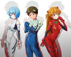 Neon Genesis Evangelion | Rei Ayanami, Shinji Ikari & Asuka Langley Soryu