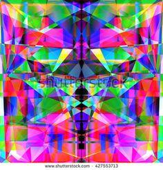 Cute   creative geometric background - stock photo