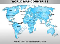 map of the world powerpoint
