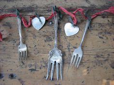 old silverware garland