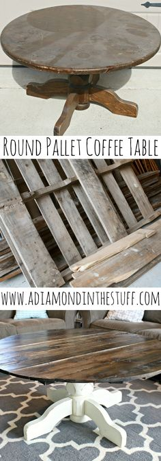 Round Pallet Coffee Table | A Diamond in the Stuff