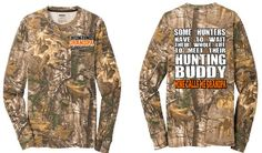 Realtree Hunting Grandpa, Some Hunters Wait Their Whole Life to Meet their Hunting Buddy, Grandpa Long Sleeve with pocket T Shirt