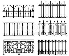 Railings and fences royalty-free stock vector art
