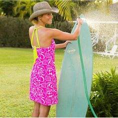 Printed Kokomo Dress - Sleek UPF 50+ swim fabric ensures this full-support dress takes readily to aquatic adventures.