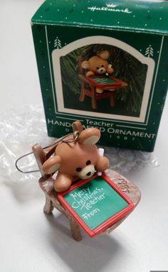 Vintage Hallmark Keepsake Ornament My Third Christmas 1989 Hallmark Classic Teddy Bear Hallmark Keepsake Vintage Ornament Free Shipping