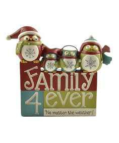 """Blossom Bucket """"Family 4 Ever"""" Blocks with 4 Owls Figurine for sale online Holiday Time, Christmas Time, Christmas Crafts, Christmas Decorations, Christmas Ornaments, Christmas Ideas, Holiday Decorating, Christmas Stuff, Decorating Ideas"""