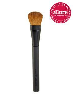 For foundation: Giorgio Armani Blender Brush has gently rounded sable hairs to prevent even the thickest foundation from piling up or streaking.