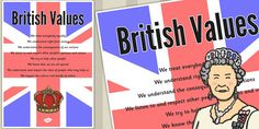 * NEW * British Values Poster