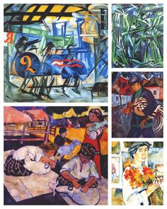 Happy birthday to avant-garde artist, painter and illustrator Natalia Goncharova, born in Russia on June 4, 1881. In addition to the above, Goncharova was also a costume and set designer, and a writer.