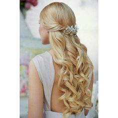 Beautiful and Romantic Prom Hairstyles for Long Hair 2014 ❤ liked on Polyvore featuring beauty products, haircare, hair styling tools and hair