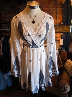 The 'Maurice' tunic is such a dream come true! Wear it as a dress with a slip beneath it, or pair with leggings! #tunic #embroidery #spring #fashion #philanthropy